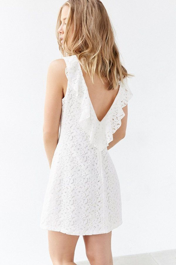 Kimchi & Blue Kimchi Blue Lace Plunge-Back Frock Dress on ShopStyle