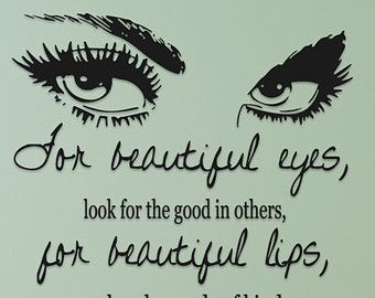 Audrey Hepburn Quote For Beautiful Eyes Look For By Doodlegraphics