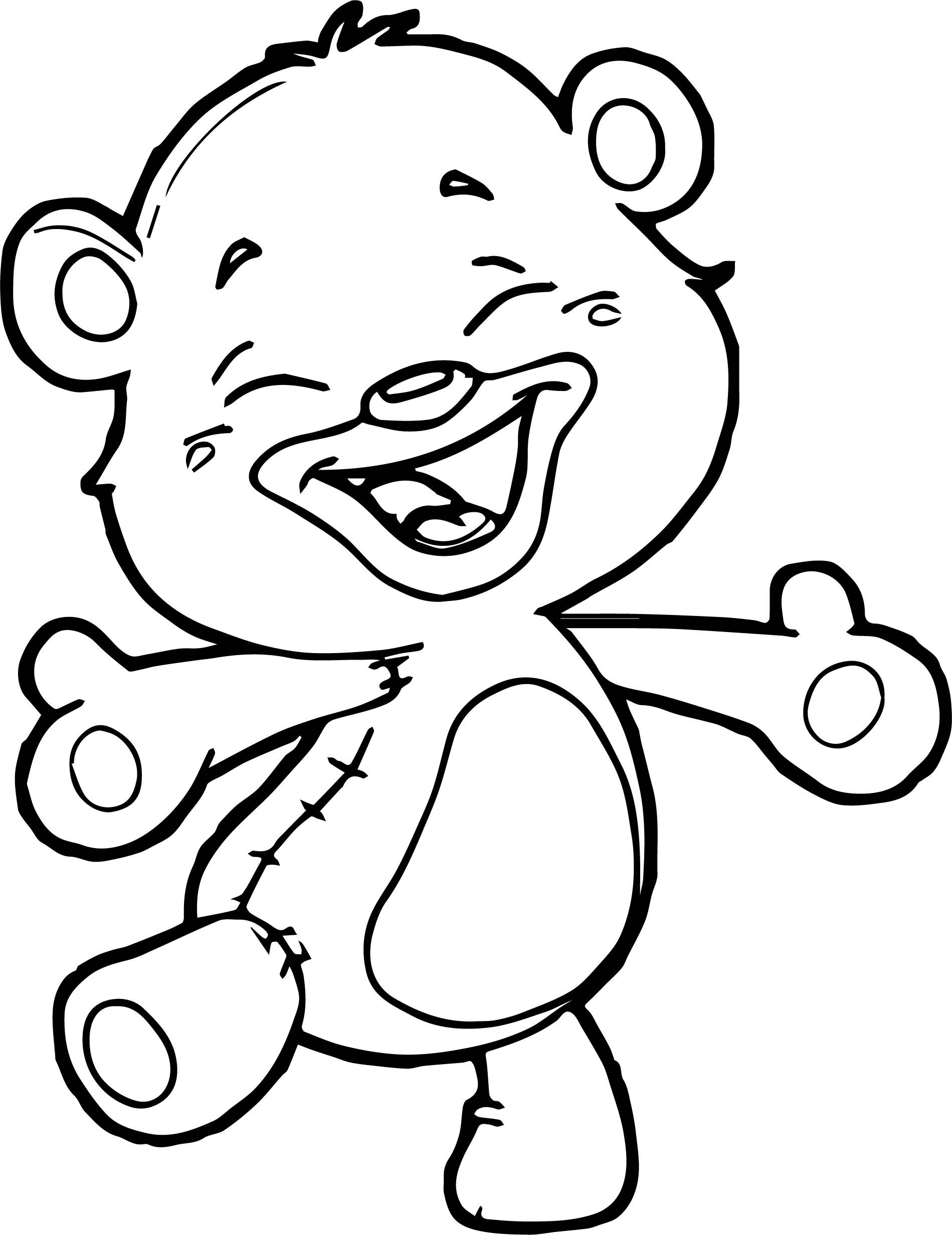 Cool Happy Small Bear Coloring Page Bee Coloring Pages Lego Coloring Pages Bear Coloring Pages