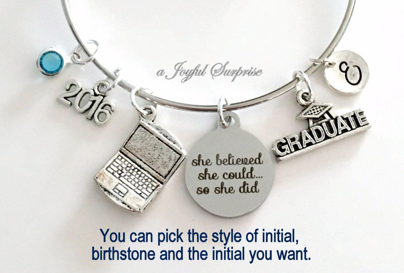 college gift gift for graduation Computer engineer grduate gift 2018 graduation gift IT graduate bracelet gift Graduation bracelet