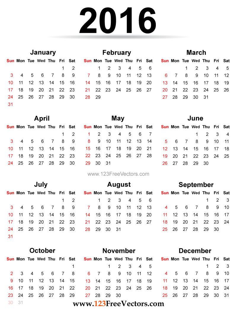 Calendar Printable Free  Calendars  Planners