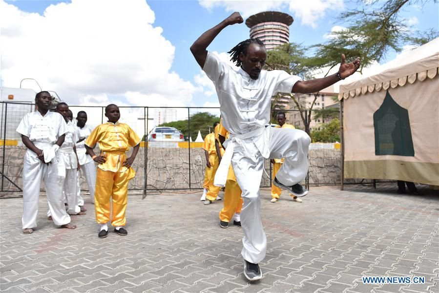 """Kenyan capital Nairobi held its first Kung Fu Festival and martial arts competition last Saturday, attracting thousands of local people. Ten Kung Fu masters from Beijing demonstrated Chinese Kung Fu, and members from a local martial arts club also contributed.   """"Through this festival, we found Kung Fu is very popular in Kenya,"""" an event organizer said."""