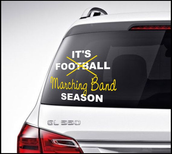 Football Marching Band Car Decal Vinyl Lettering Bumper Sticker - Car window stickers printing