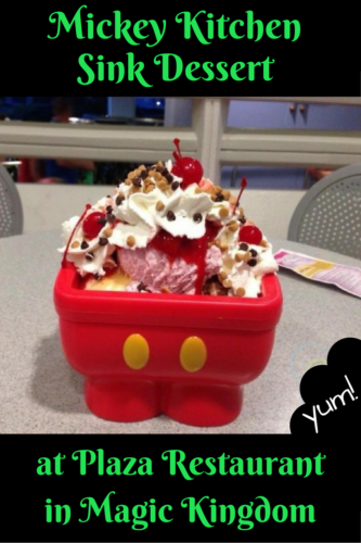 Mickey Kitchen Sink Dessert at Plaza Restaurant in Magic Kingdom ...
