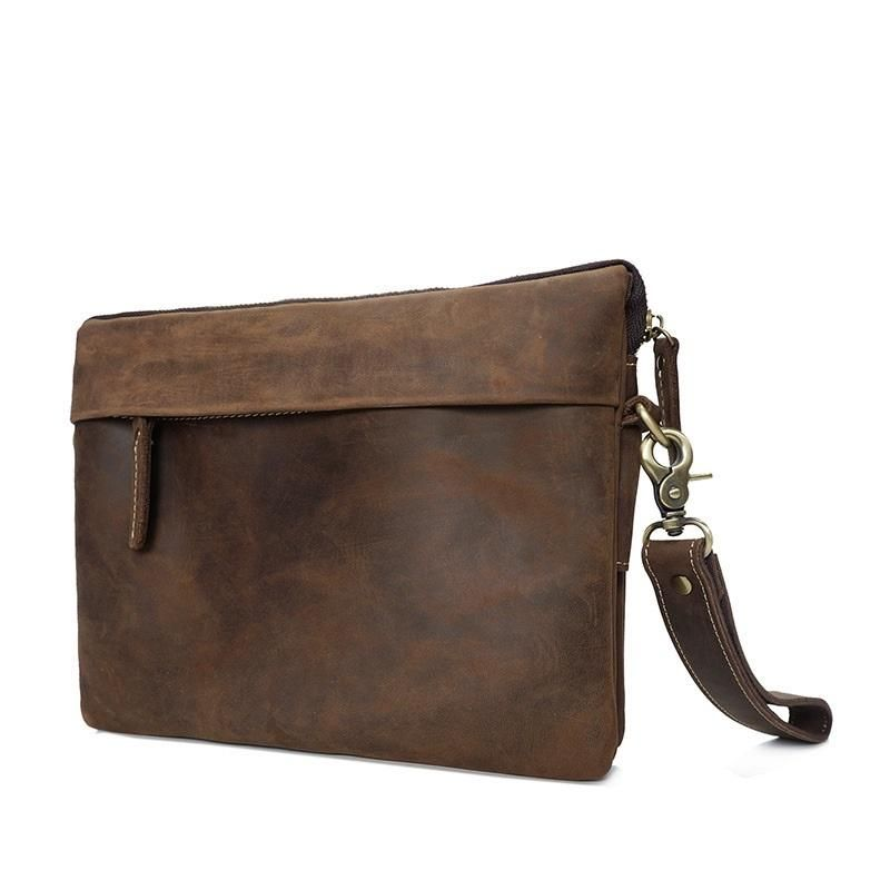 Leather Mens Brown Cool Small Messenger Bag Vintage Shoulder Bags ... 7923a7b89a319