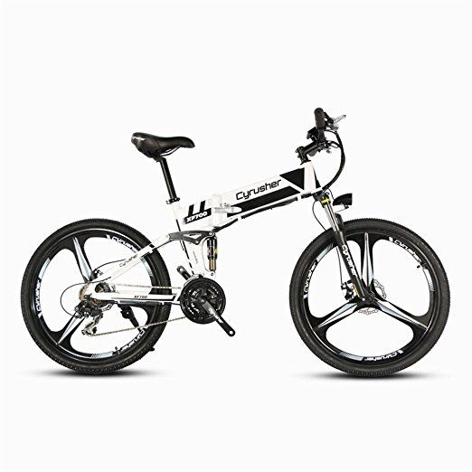 Cyrusher Xf700 Folding Electric Bike 26 Inch Mountain Bicycle Full