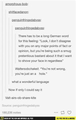 When I Want To Insult You Just Yell In German Hilarious Funny Quotes Words