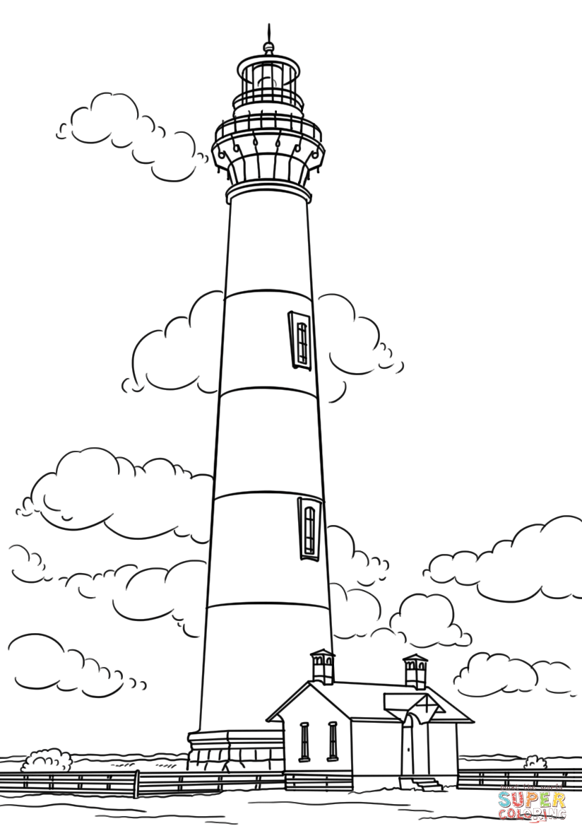 Bodie Island Lighthouse North Carolina Super Coloring Coloring Pages Free Printable Coloring Pages Art Drawings For Kids
