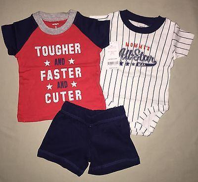Carters Baby-Month 2-Pc Shorts /& T-Shirt Rescue Patrol Set Camo /& Orange
