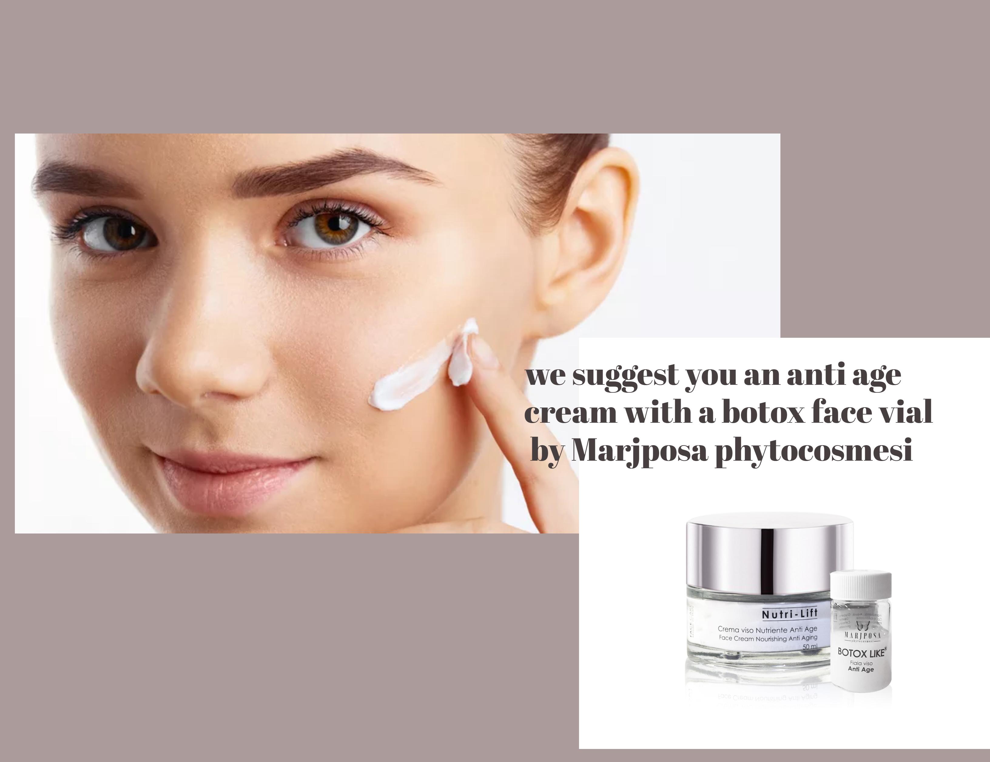🌷anti age face cream + a botox vial !   Marjposa