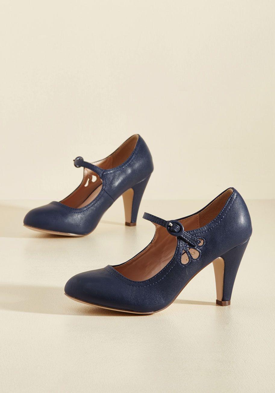 Vegan vintage mary jane heels