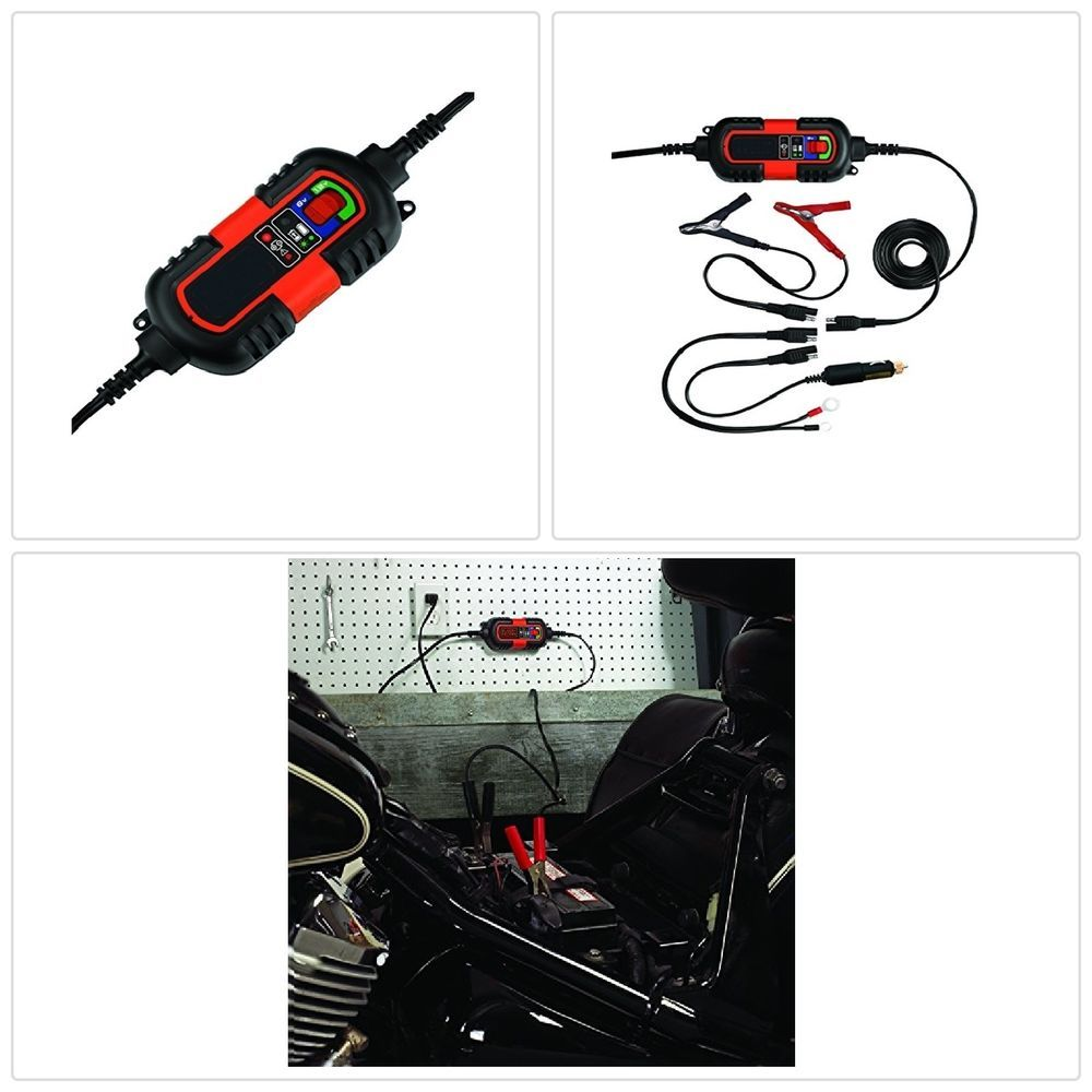 Battery Charger Maintainer 6V 12V Amp Volt Trickle RV Car Truck Motorcycle Mower