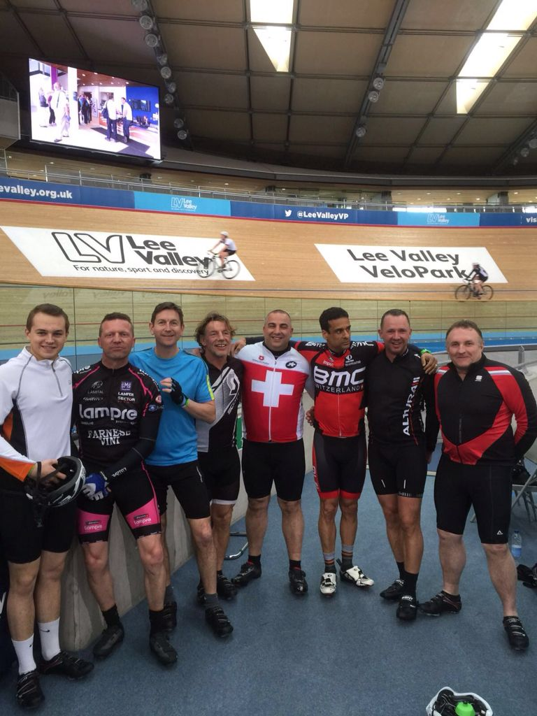 Lads day at the velodrome