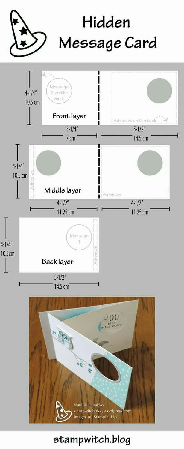 template/layout for Hidden Message Card ... | Cardmaking templates ...
