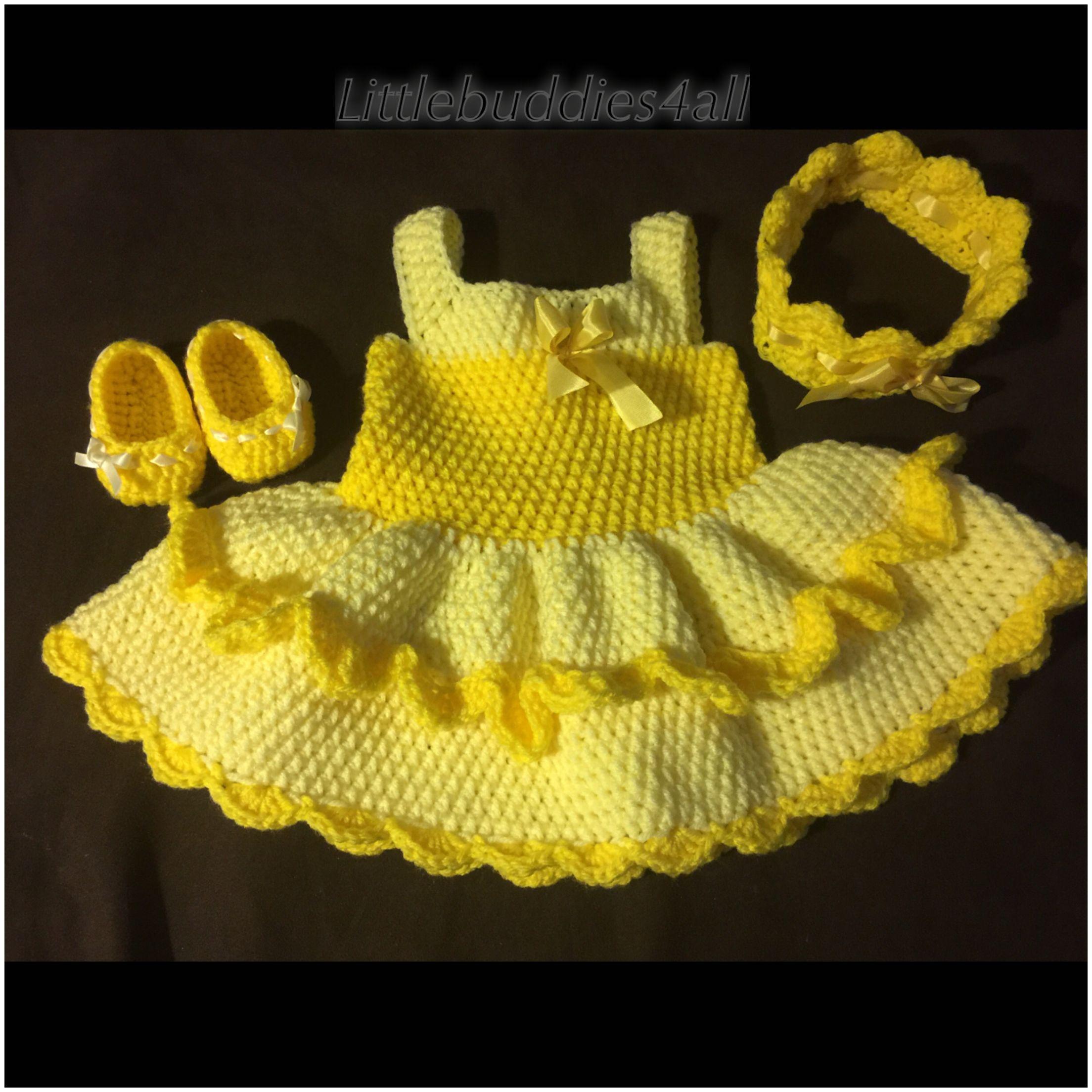 Crochet beauty and the beast inspired dress set