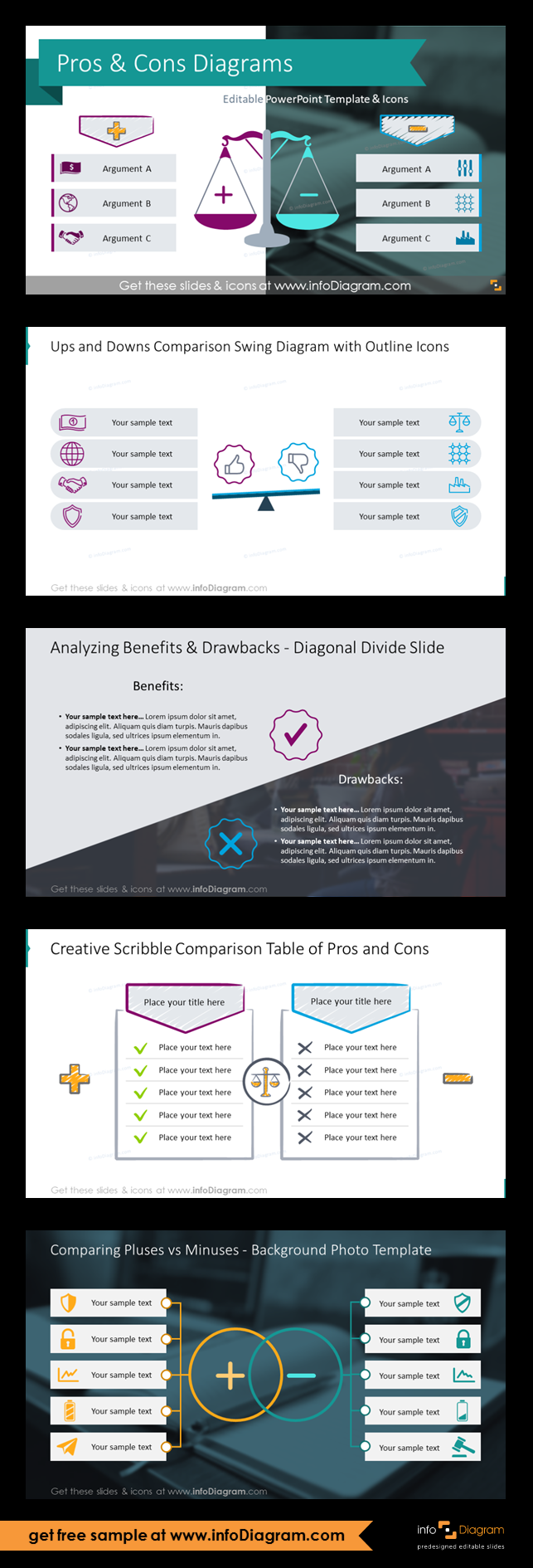 The Comparison Slide Examples That Can Help You To Present An Evaluation Of Product Pluses And