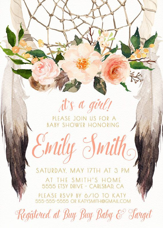 celebrate the mommy-to-be with this unique, boho baby shower, Baby shower invitations