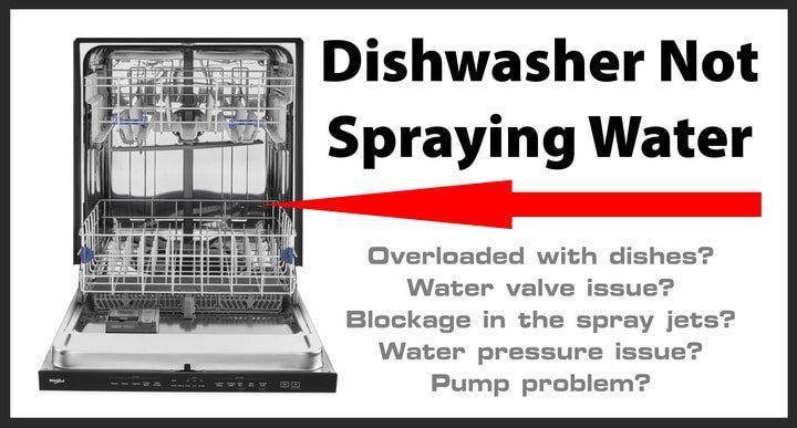 Dishwasher not spraying water how to repair dishwasher