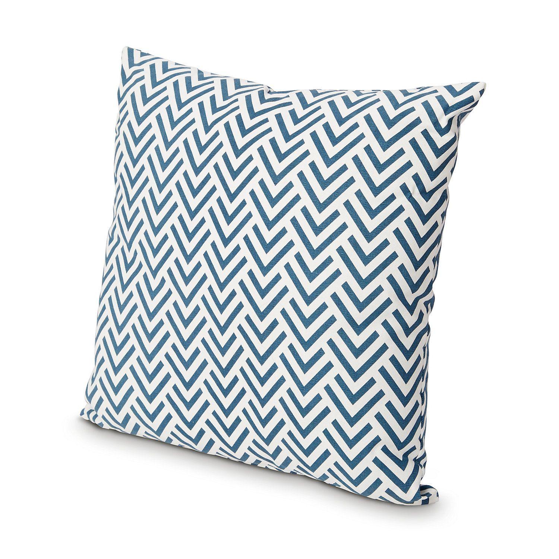 Chevron Moroccan Blue Cushion