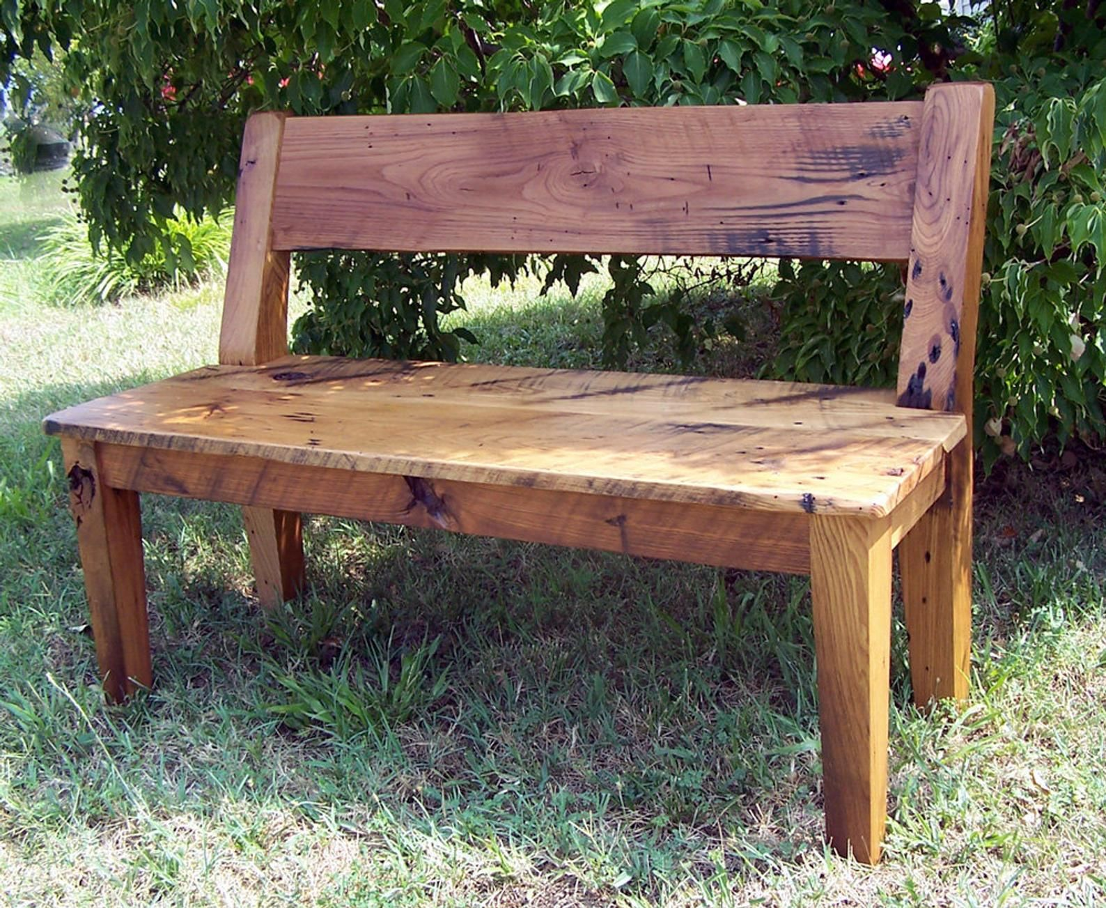 Wood Dining Bench Wood Bench With Back Reclaimed Wood Bench Etsy In 2020 Wood Dining Bench Wood Bench With Back Dining Bench With Back