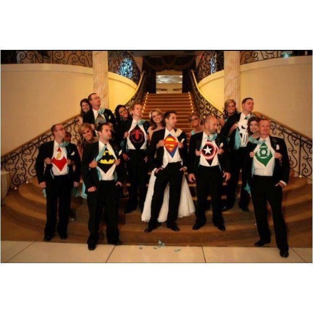 Your Superhero Wedding Arabia Weddings Pretty Creative I Like The Groomsmen Idea But