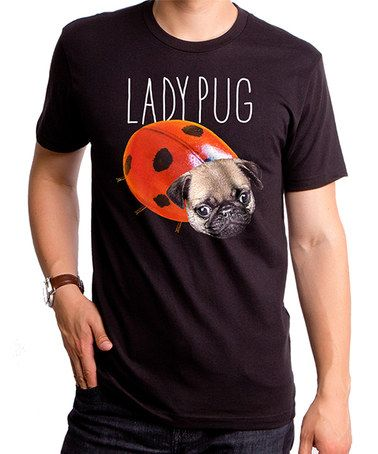 This Black 'Ladypug' Tee - Men's Regular is perfect! #zulilyfinds