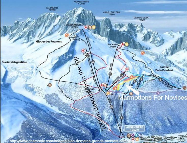 Les Grands Montets Piste Map While Les Grands Montets enjoys a