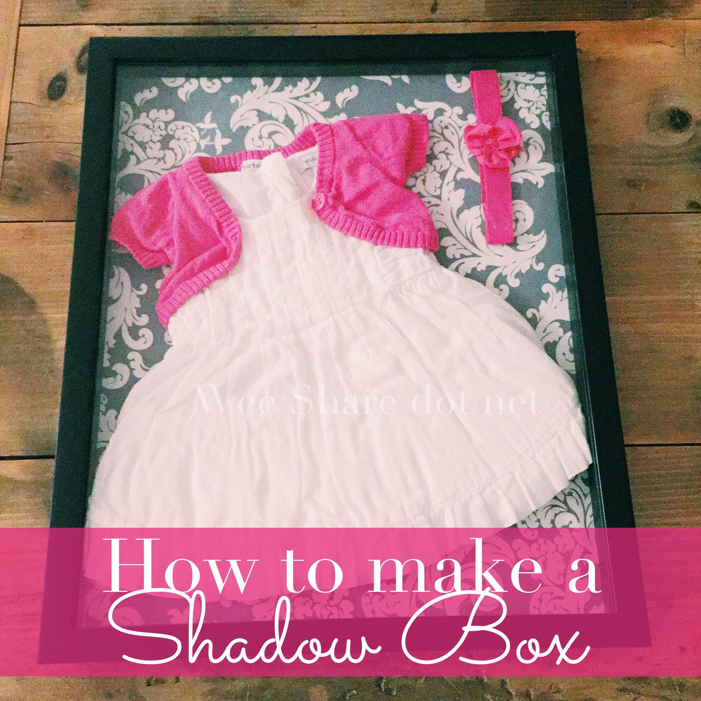 images How to Frame Baby Clothes