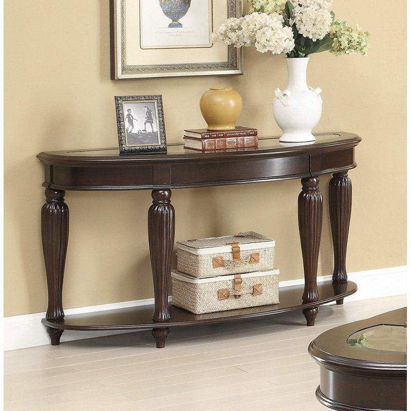 Best Coaster Furniture Wood Sofa Table Dark Merlot 703849 400 x 300