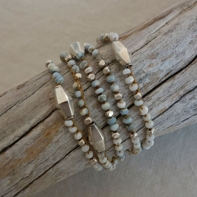 Crocheted necklace from erb jewelry, also bracelet