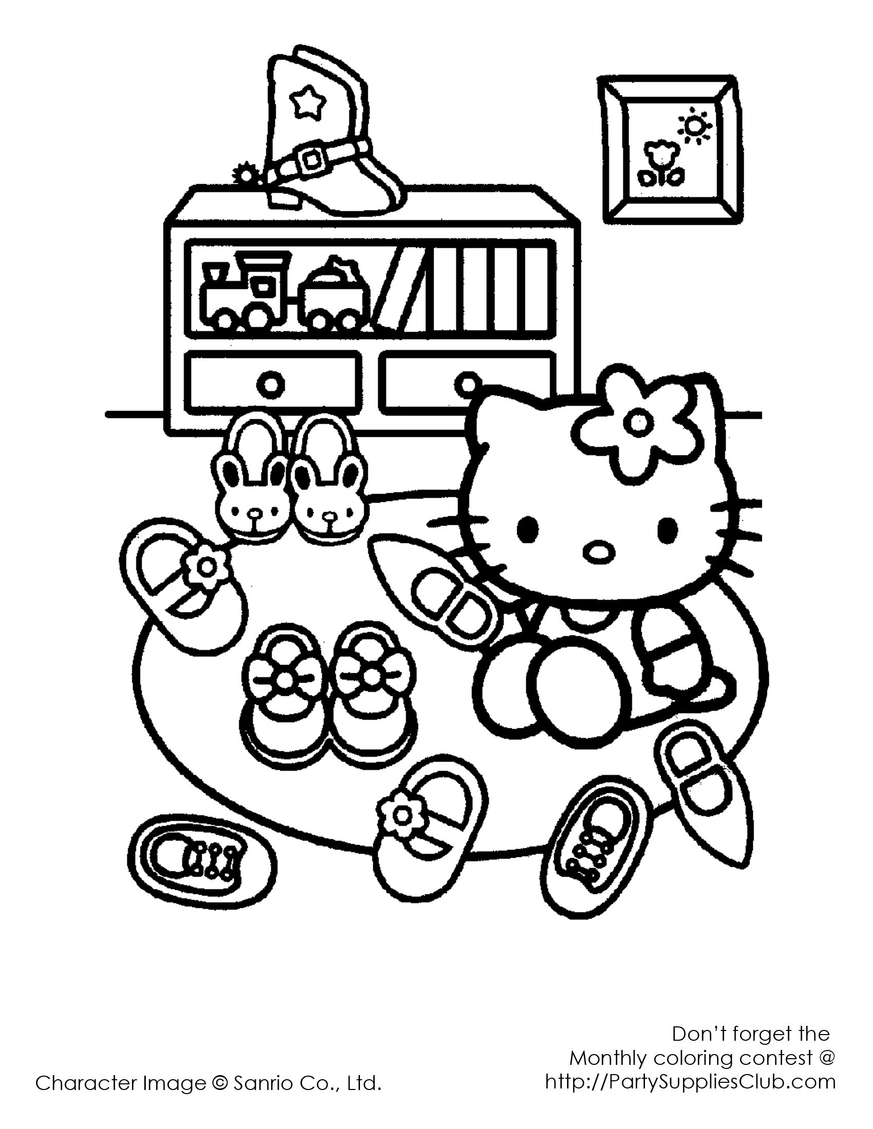 Hello kitty so many shoes kidsu coloring pages pinterest hello