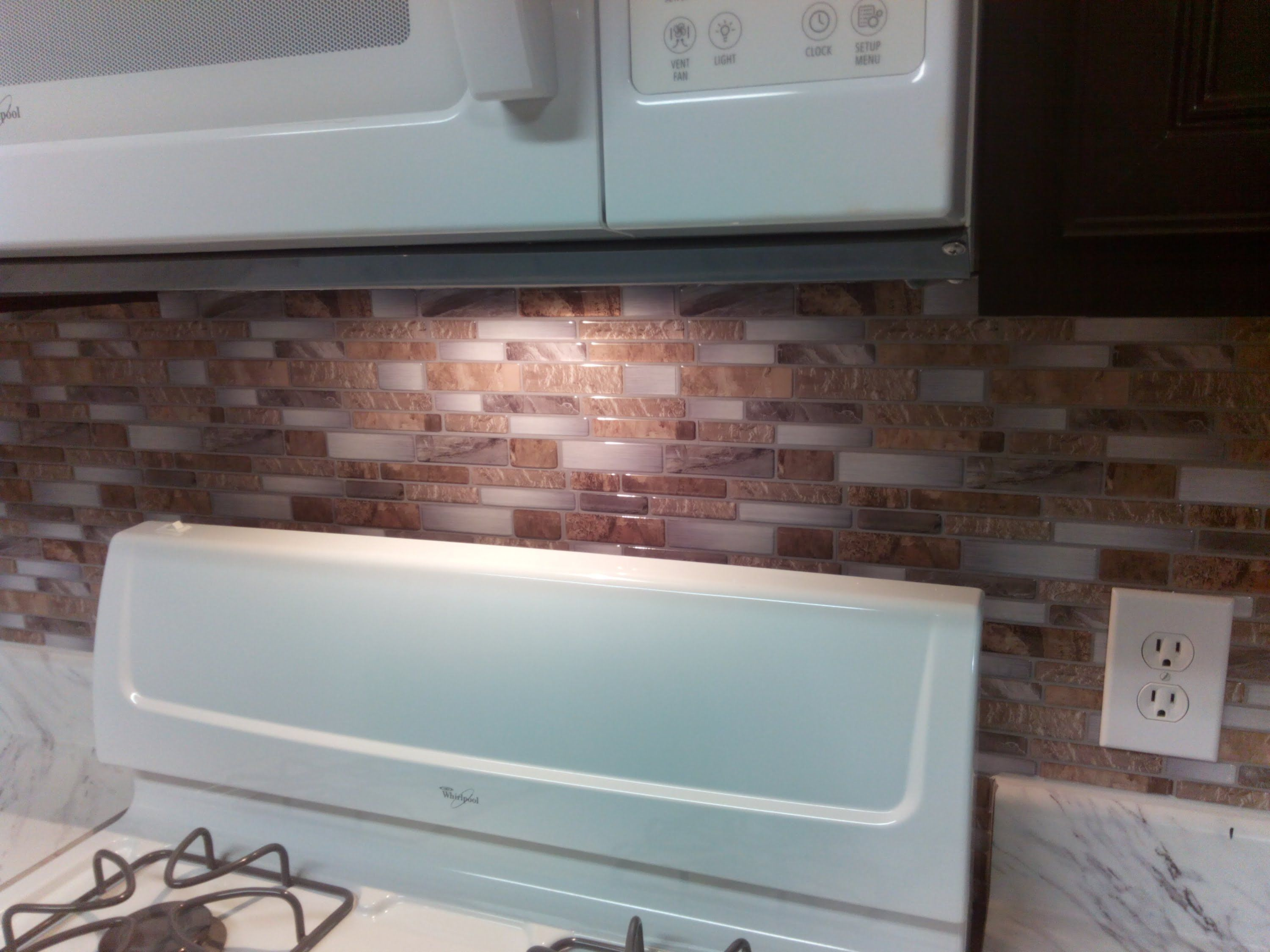 Backsplash - Peel and stick mosaic wall tile installation - YouTube ...