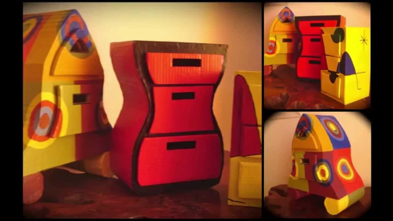 Psychedelic Cardboard Furniture Interesting Home Decor  # Muebles De Caeton