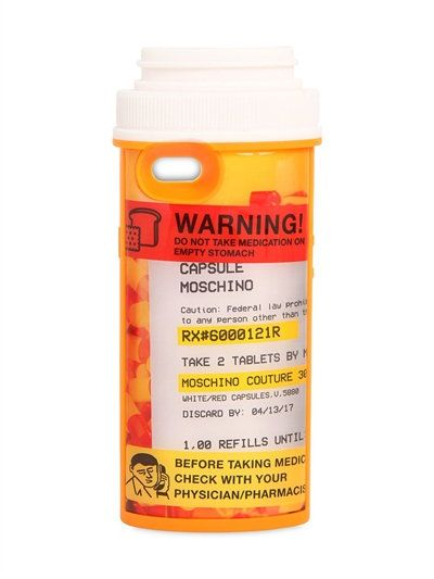 2d62ceeb5 MOSCHINO - PILL BOTTLE SHAPED IPHONE 6 CASE - MULTICOLOR ...