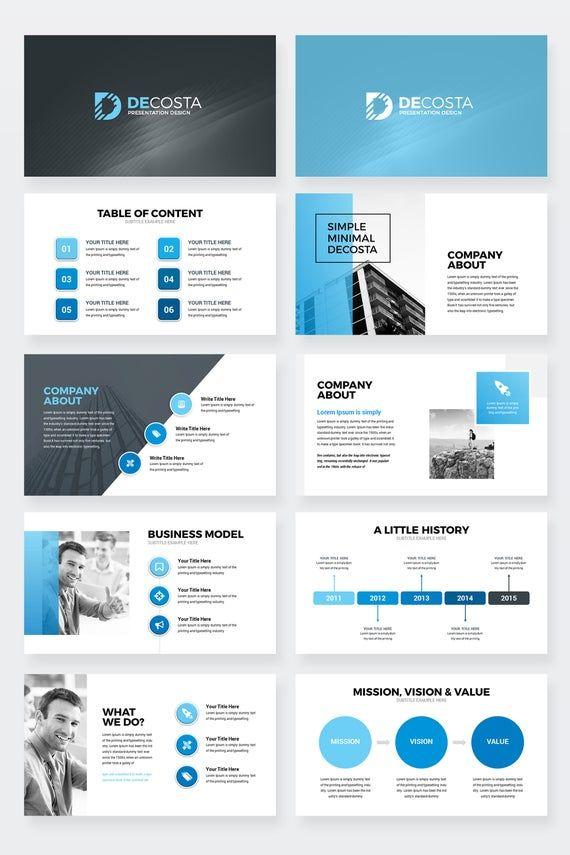 Decosta - Modern Minimal Creative Business Keynote Presentation Template
