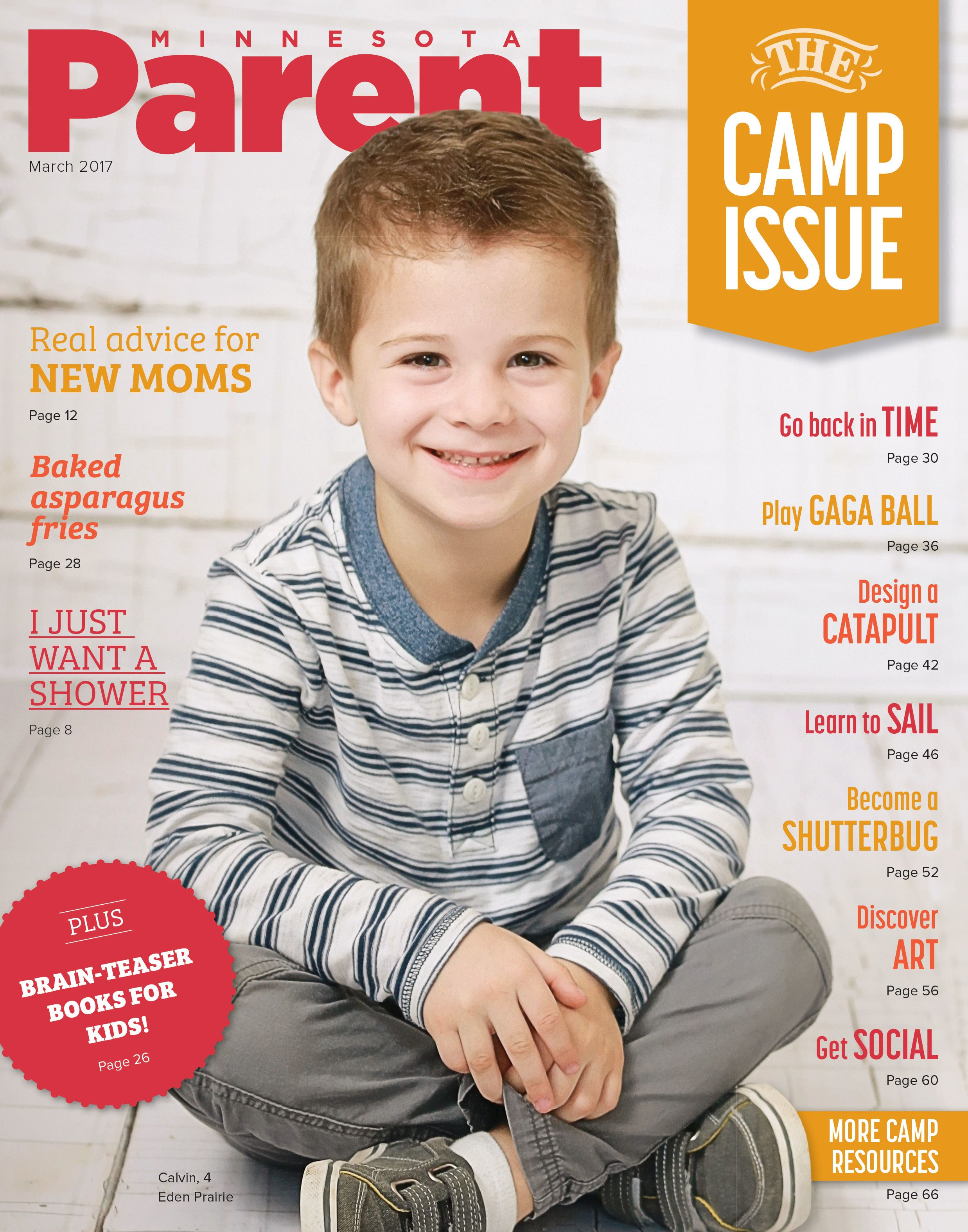 Check out our sweetheart of a #CoverKid, Calvin, 4, of Eden Prairie! Photo by Brooke Jakubov Photography