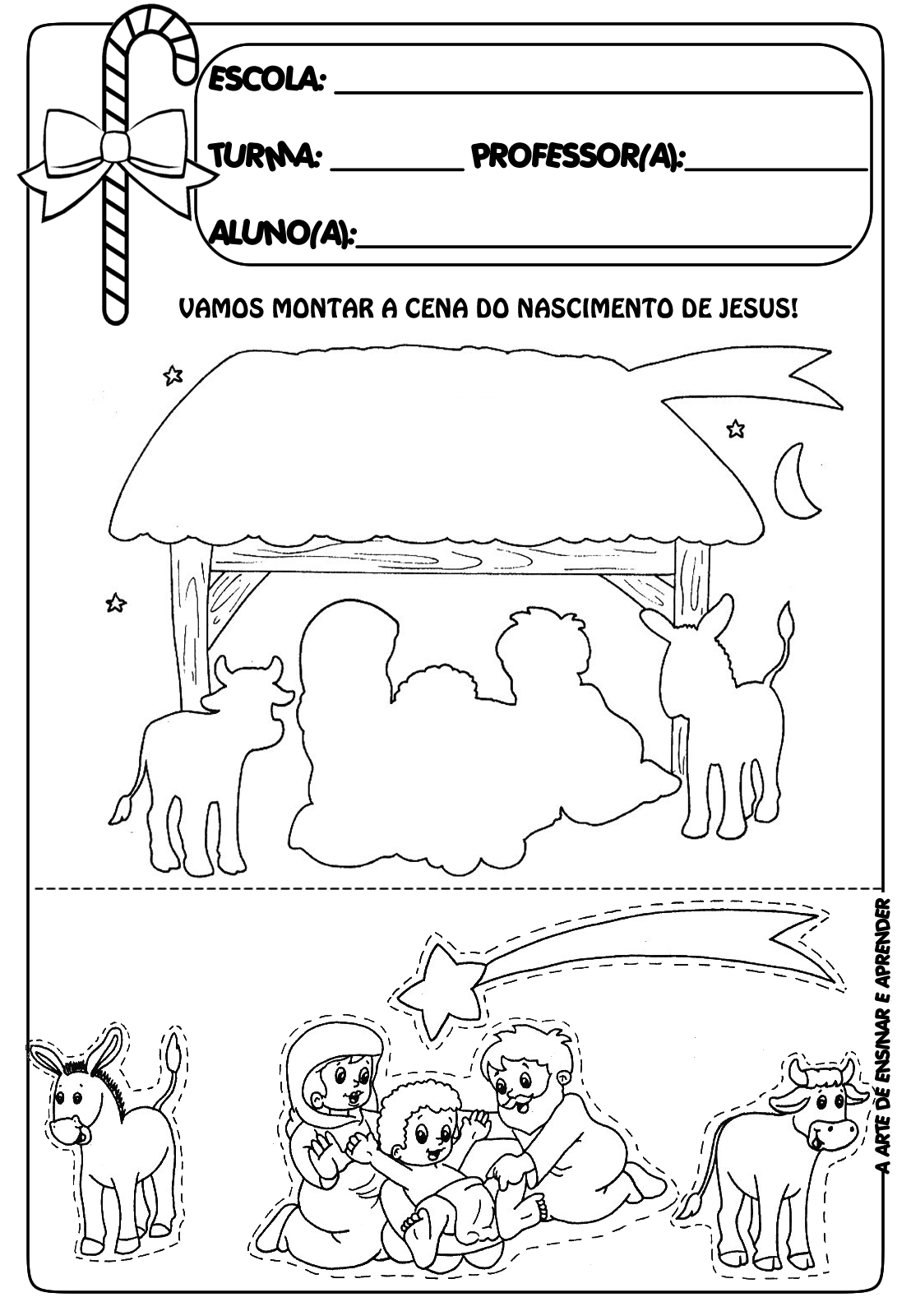 Christmas Nativity Free Printable Worksheet Pre K