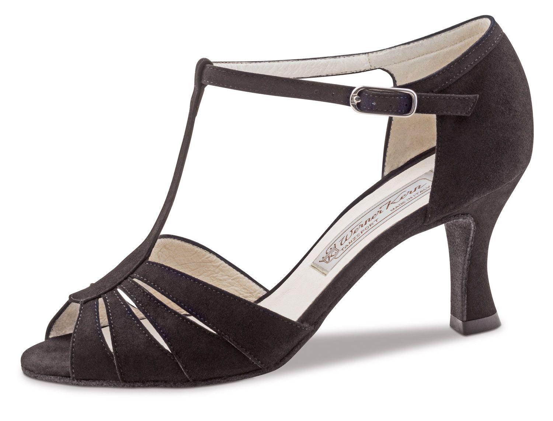 Tanzschuhe Dalia Samtziege in schwarz (6,5cm) Damen