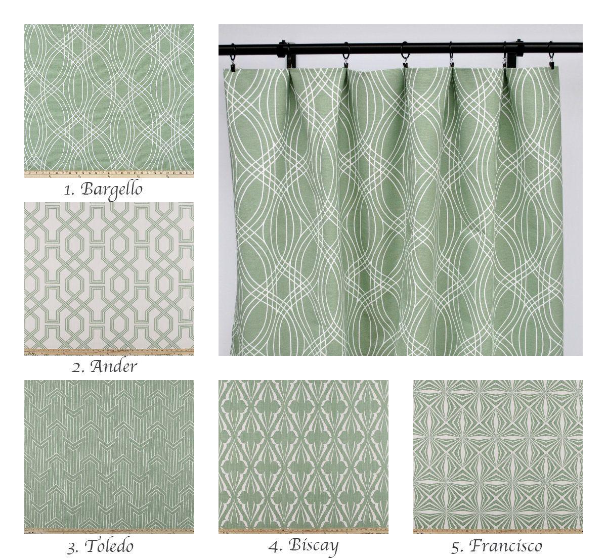 scott living curtain panels sage green