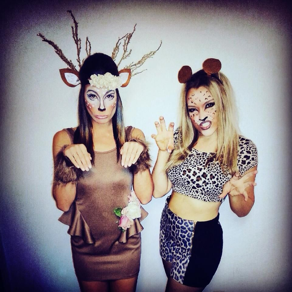 Deer and cheetah! party animals! halloween costumes | who will let ...