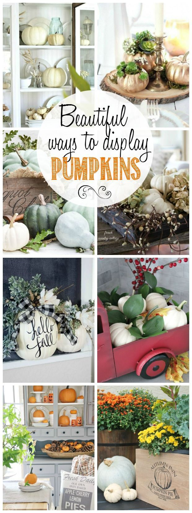 Decorating With Pumpkins - Clean and Scentsible
