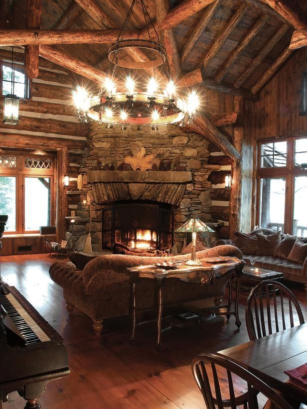 47 Extremely Cozy And Rustic Cabin Style Living Rooms Cabin