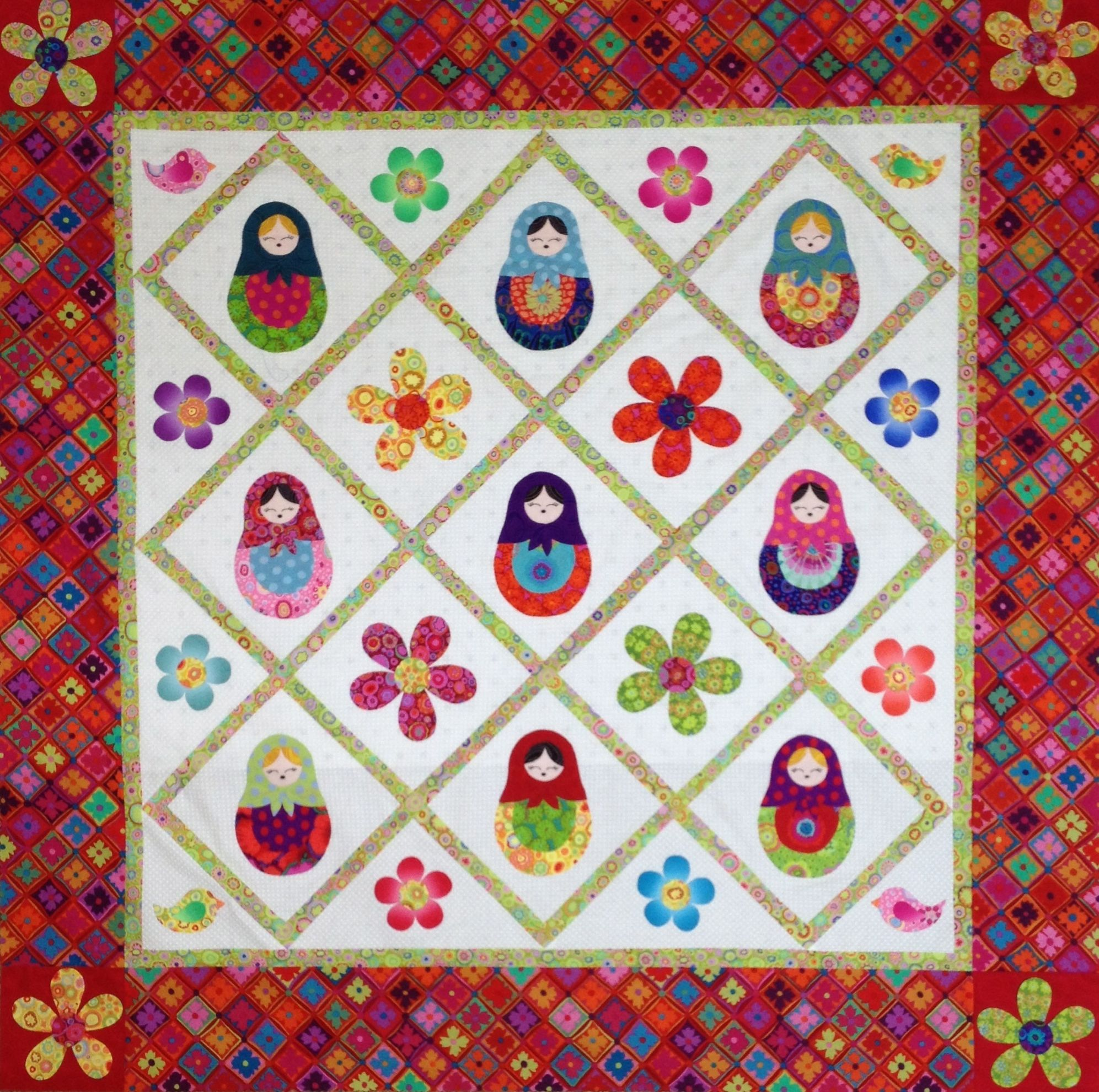 Matryoshka Russian Nesting Doll Quilt Original pattern for sale by ... : doll quilts for sale - Adamdwight.com