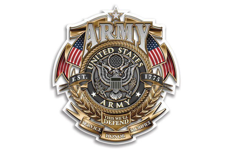 ~ 1/%er GREEN EMBLEM Metal Badge *HIGH QUALITY* Army Motorcycle Harley Davidson