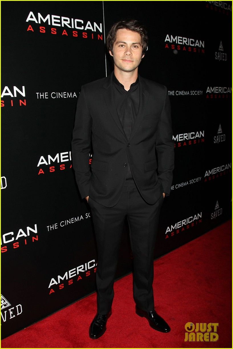 b46213fa6be0 Dylan O Brien   Taylor Kitsch Suit Up for  American Assassin  NYC Screening