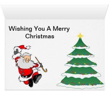 santa and elf christmas card - Elf Christmas Card
