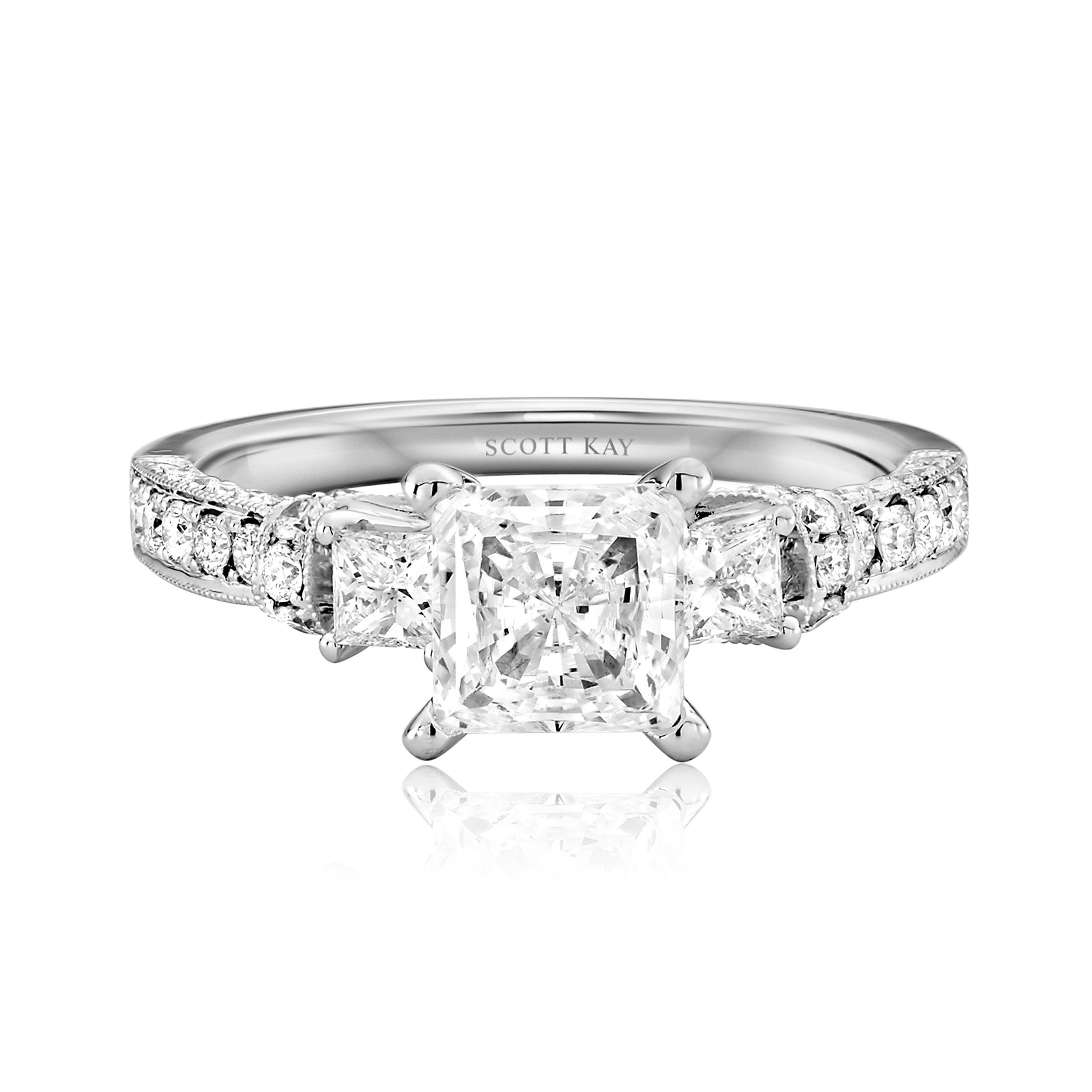 platinum beautiful princess of rings ring cut diamond kay inspirational engagement and scott