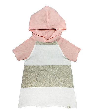 Look what I found on #zulily! Sand Heather Bold Stripe Organic Hooded Tunic - Infant&Kids by Burt's Bees Baby #zulilyfinds