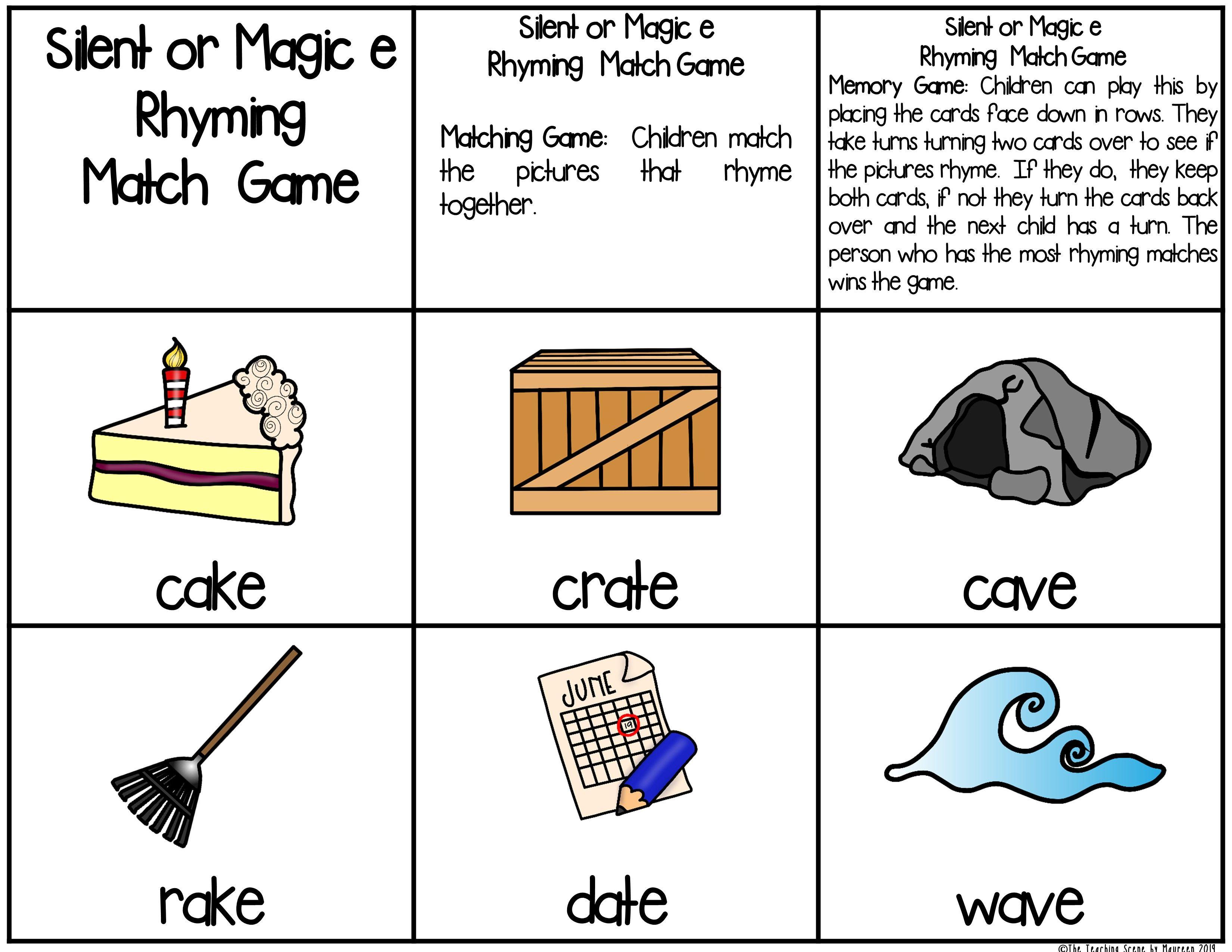 Silent Or Magic E Centers Worksheets Magic E Phonics Centers Phonics Magic e rule worksheets