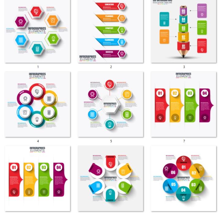 حزمة قوالب انفوجرافيك Powerpoint Presentation Design Education Poster Design Presentation Design